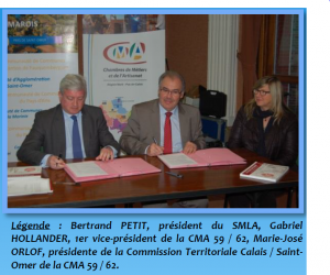 Photo signature convention SMLA-Chambre des Métiers