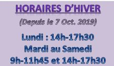 Capture horaires hiver